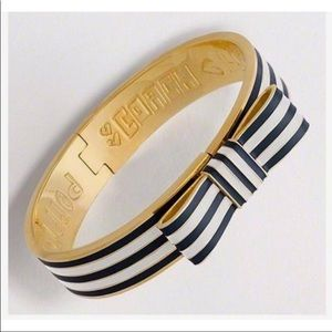 Coach Striped Bow Bracelet With Clasp Under Bow